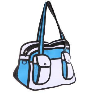 Сумка через плечо  2D Lite Handbag Blue/White/Black Jump from paper. Цвет: голубой,белый,черный