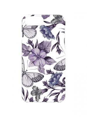 Чехол для iPhone 7Plus Фиолетовые бабочки Арт. 7Plus-079 Chocopony. Цвет: фиолетовый, белый
