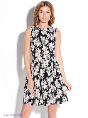 Платье TuttoBene. Цвет: черный, розовый