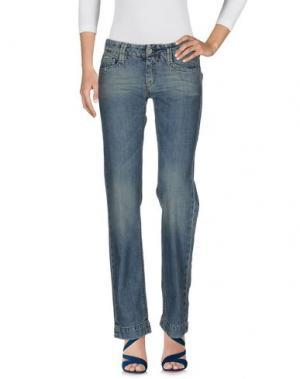 Джинсовые брюки RE-HASH. Цвет: синий