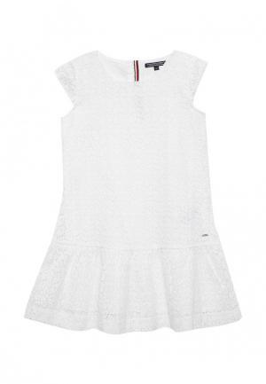 Платье Tommy Hilfiger. Цвет: белый