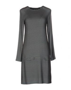 Короткое платье SIYU. Цвет: цвет морской волны