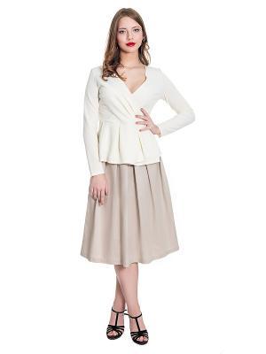 Блузка JATRAW. Цвет: белый
