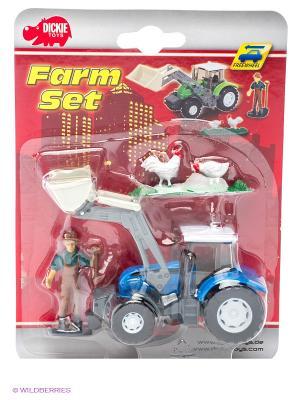 Трактор, свободный ход, 13 см., 6/72 Dickie. Цвет: зеленый, черный