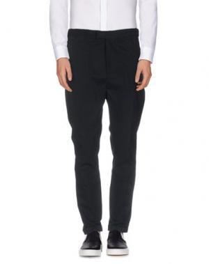 Повседневные брюки COSTUME NATIONAL HOMME. Цвет: стальной серый