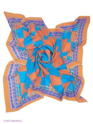 Платок Moltini. Цвет: бирюзовый, оранжевый