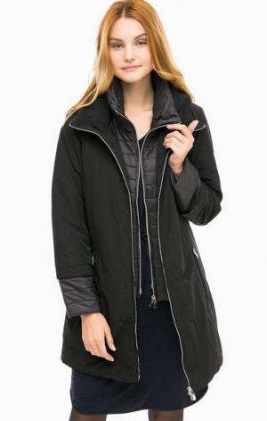 Черная куртка с ветрозащитной планкой olsen. Цвет: черный