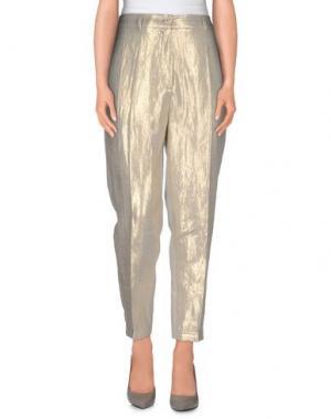 Повседневные брюки NUDE. Цвет: светло-серый
