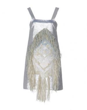 Короткое платье VANDA CATUCCI. Цвет: серебристый