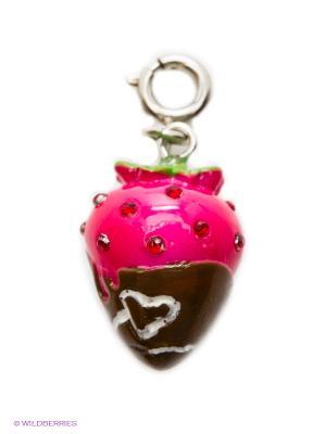 Подвеска на браслет Клубника с шоколадом CHARM IT. Цвет: малиновый