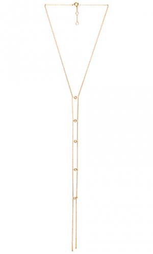 Двойная цепочка лариат joolz by Martha Calvo. Цвет: металлический золотой