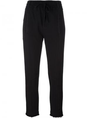 Укороченные брюки на шнурке Haider Ackermann. Цвет: чёрный