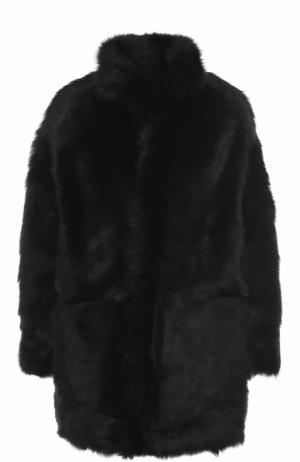 Шуба из меха овчины с подстежкой No. 21. Цвет: черный