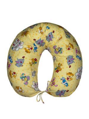 Подушка для беременных и кормящих Здоровье комфорт. Цвет: желтый, голубой