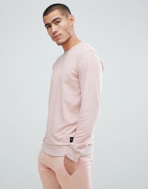 Only & Sons Свитшот с круглым вырезом. Цвет: розовый