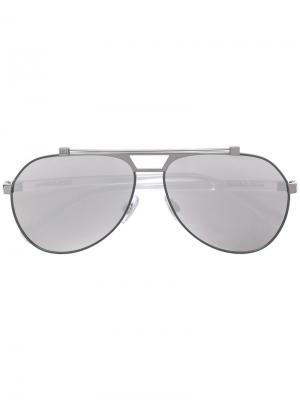 Солнцезащитные очки с оправой авиатор Dolce & Gabbana Eyewear. Цвет: белый