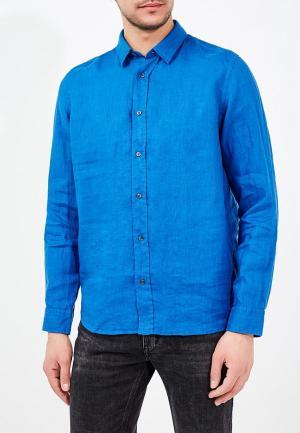 Рубашка Hugo Boss. Цвет: синий