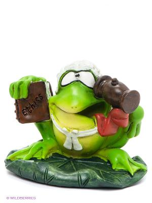 Фигурка-лягушка Судья Шредер The Comical World of Stratford. Цвет: зеленый, белый, коричневый, красный