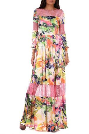 Платье Sassofono. Цвет: multicolor