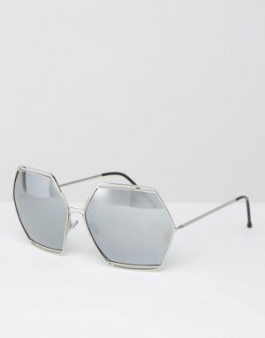 Spitfire Солнцезащитные очки с зеркальными стеклами. Цвет: серебряный