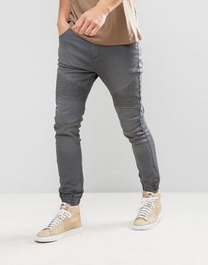 Loyalty & Faith Серые джинсы в спортивном стиле and Garrett. Цвет: серый