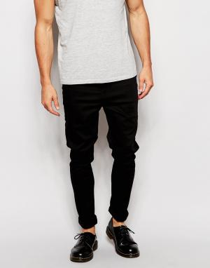 Zee Gee Why Черные джинсы скинни с заниженным шаговым швом