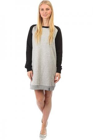 Платье женское  Dress Skateboarding Black/Grey Emblem. Цвет: серый,черный
