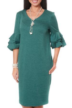 Платье Argent. Цвет: зеленый, меланж