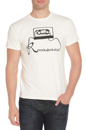 Футболка Rocawear. Цвет: белый