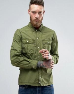 Edwin Рубашка Corporal. Цвет: зеленый