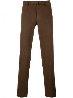 Классические брюки чинос Incotex. Цвет: коричневый