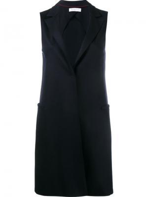 Пальто без рукавов Harris Wharf London. Цвет: синий