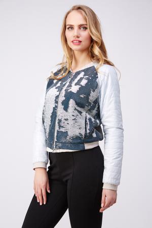 Легкая женская куртка украшенная пайетками Diego M. Цвет: голубой
