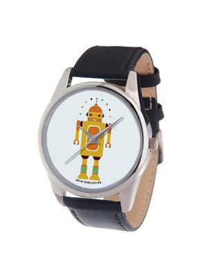Часы Mitya Veselkov Влюбленный робот. Цвет: черный