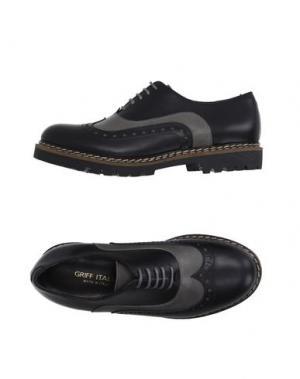 Обувь на шнурках GRIFF ITALIA. Цвет: серый