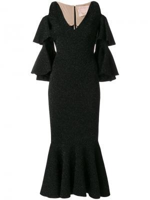 Облегающее платье с расклешенным подолом Maria Lucia Hohan. Цвет: чёрный