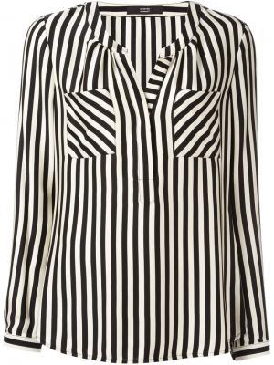 Блузка в полоску Steffen Schraut. Цвет: телесный