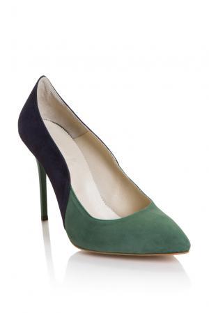 Замшевые туфли 157308 Lolita Shonidi. Цвет: разноцветный