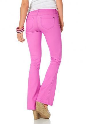AJC, брюки «клёш» из очень эластичного материала Otto. Цвет: розовый