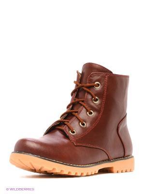 Ботинки INARIO. Цвет: рыжий
