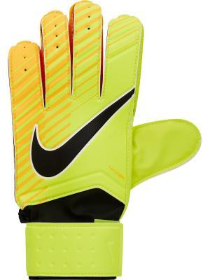 Вратарские перчатки NK GK MTCH Nike. Цвет: салатовый, рыжий