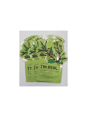 Набор тканевых масок успокаивающая I AM REAL (чайное дерево), 3шт*21 мл Tony Moly. Цвет: белый