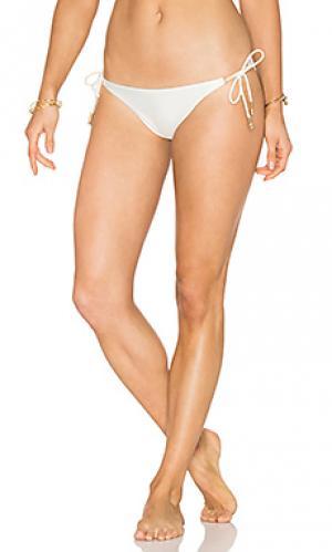 Плотные плавки бикини с длинными завязками Vix Swimwear. Цвет: белый
