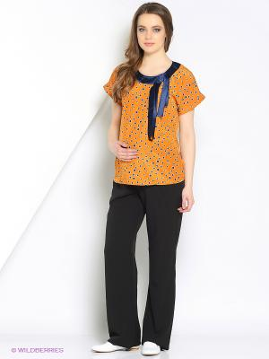 Блуза EUROMAMA. Цвет: оранжевый