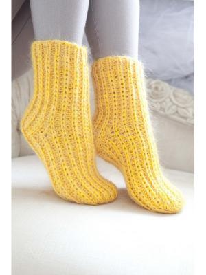 Носки Непростые вещи. Цвет: желтый