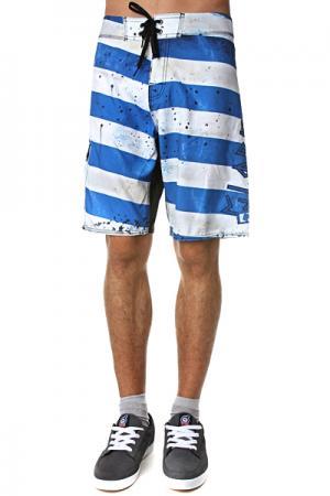 Пляжные мужские шорты  Morello 21 Boardshort Indigo Globe. Цвет: синий,белый