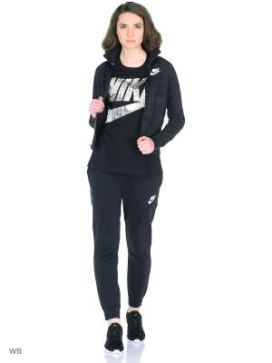 Куртка W NSW AV15 TRK JKT KNT Nike. Цвет: черный, белый