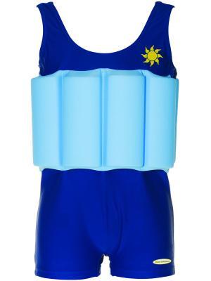 Детский купальный костюм Baby Swimmer. Цвет: голубой