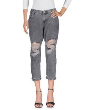 Джинсовые брюки ONE. Цвет: серый