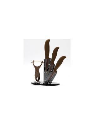 Ножи кухонные MAYER-BOCH. Цвет: черный, коричневый